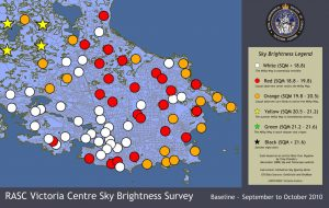 Victoria region Sky Quality Map - East