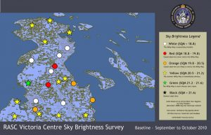 Victoria region Sky Quality Map - North
