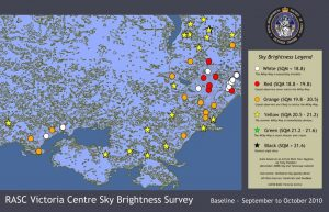 Victoria region Sky Quality Map - West