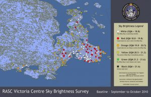 Victoria region Sky Quality Map - overview