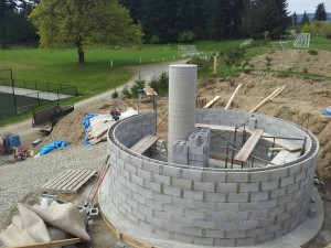 Observatory under construction at Shawnigan Lake School