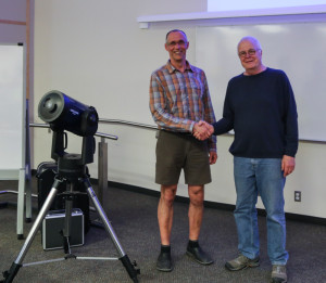 Cole Gorman - winner of the Meade LX-90 telescope draw