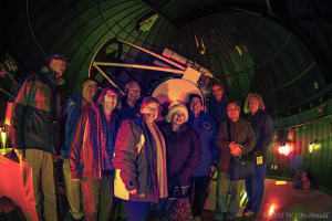 2015-12-11-RASC Observing Group in front of the UVic telescope
