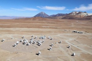 ALMA array in the Atacama desert
