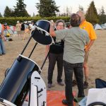 "Bruno shows Les & Barb some finer points of their new 16"" Dob"