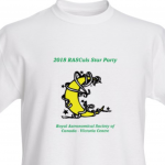 2018 RASCals Star Party white t-shirt