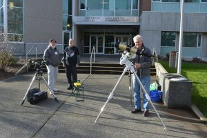 Solar observing outside