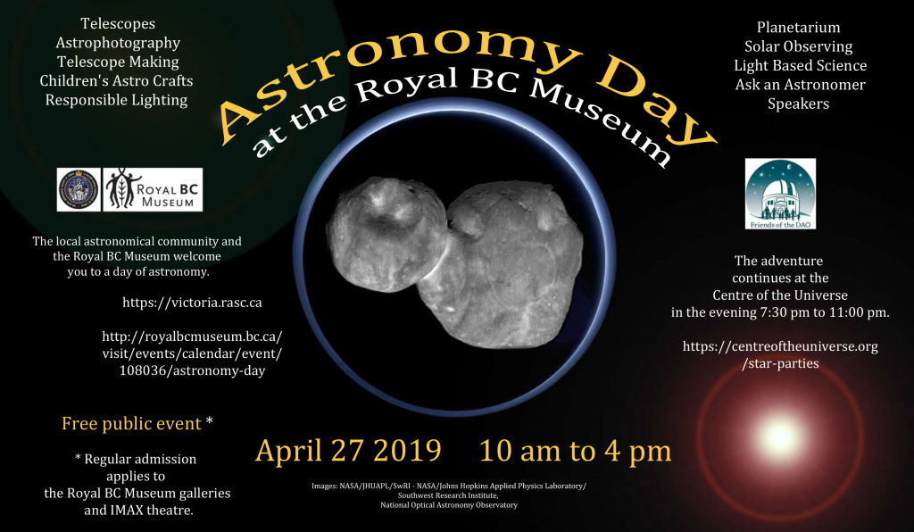 Astronomy Day 2019 in Victoria poster