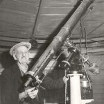 Bob Peters with Brydon Telescope, approx. 1960
