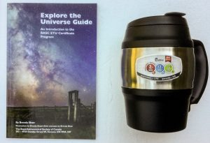 PRIZE - Explore the Universe Guide; stainless steel coffee mug