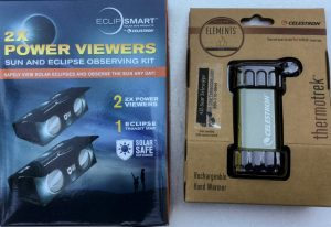 PRIZE - Eclipse Viewer kit; rechargable hand warmer
